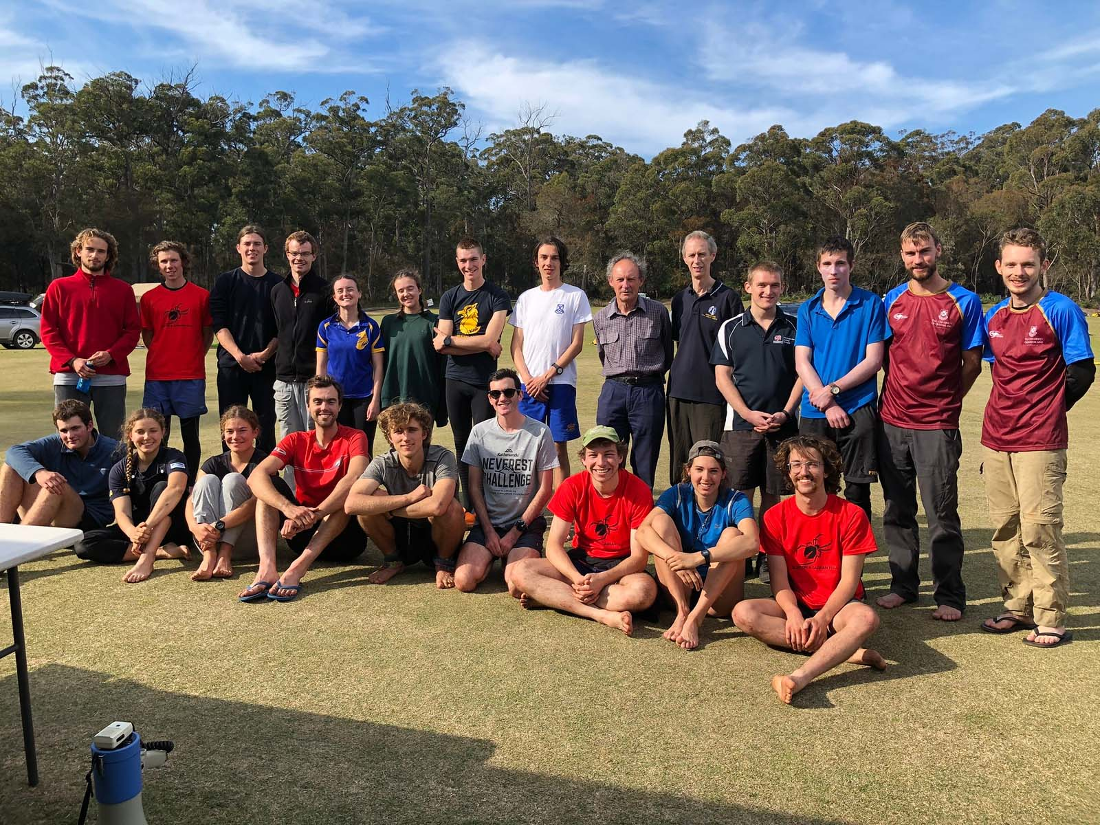 All Intervarsity competitors with Intervarsity founder David Hogg